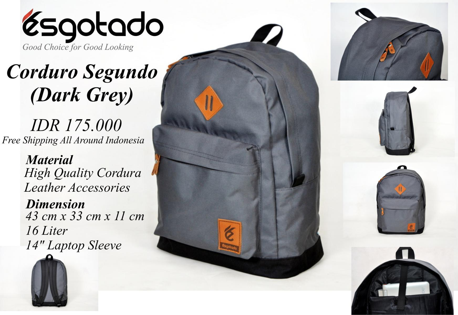 CORDURO SEGUNDO DARK GREY
